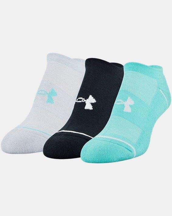 Women's UA Phenom No Show – 3-Pack Socks, Green, pdpMainDesktop image number 9