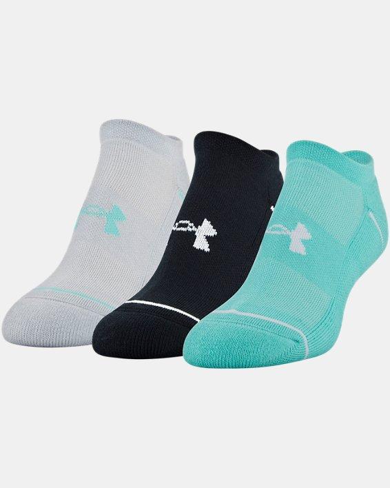 Women's UA Phenom No Show – 3-Pack Socks, Green, pdpMainDesktop image number 10