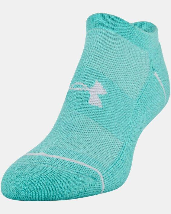 Women's UA Phenom No Show – 3-Pack Socks, Green, pdpMainDesktop image number 0
