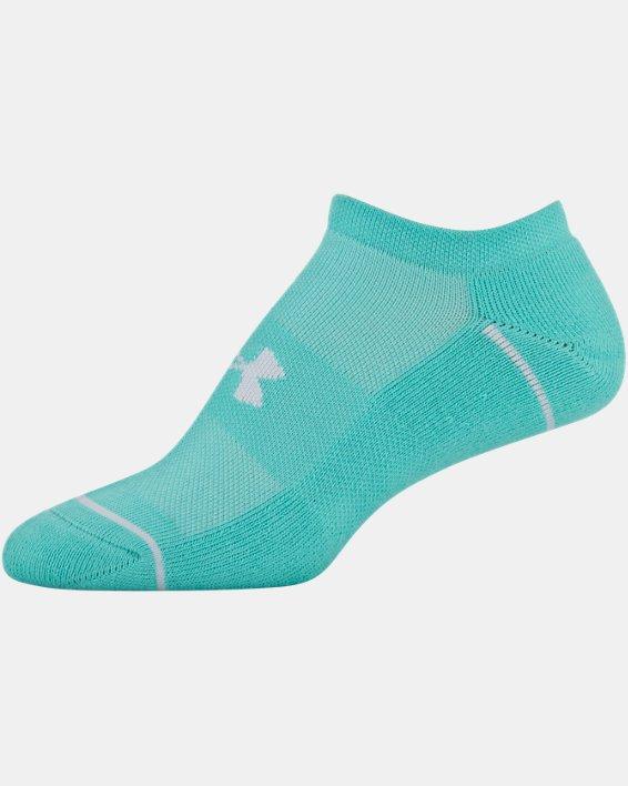 Women's UA Phenom No Show – 3-Pack Socks, Green, pdpMainDesktop image number 6