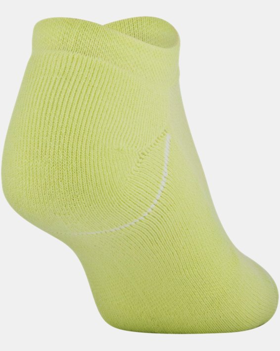 Women's UA Phenom No Show – 3-Pack Socks, Yellow, pdpMainDesktop image number 3