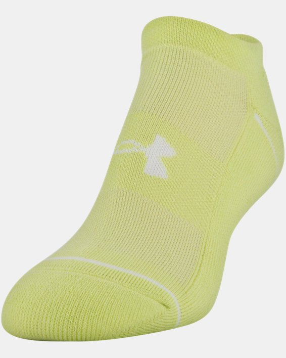 Women's UA Phenom No Show – 3-Pack Socks, Yellow, pdpMainDesktop image number 0