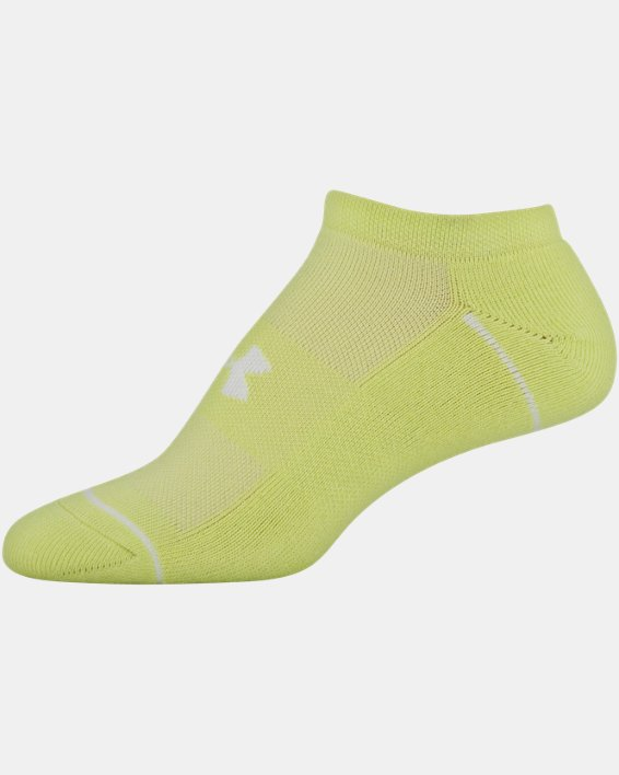 Women's UA Phenom No Show – 3-Pack Socks, Yellow, pdpMainDesktop image number 6