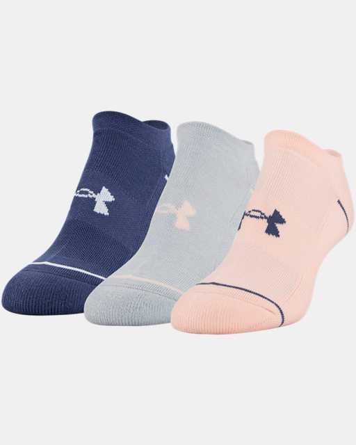 Women's UA Phenom No Show – 3-Pack Socks
