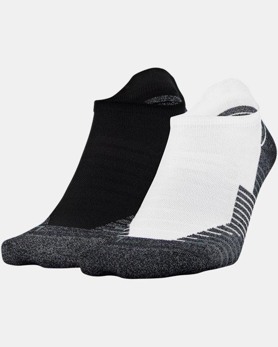 UA Run No Show Tab – 2-Pack Socks, White, pdpMainDesktop image number 6