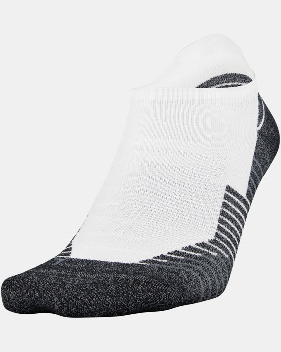UA Run No Show Tab – 2-Pack Socks, White, pdpMainDesktop image number 0
