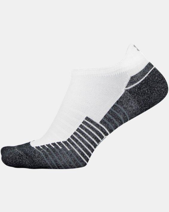 UA Run No Show Tab – 2-Pack Socks, White, pdpMainDesktop image number 4