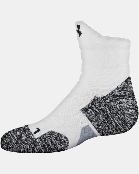 Men's UA Drive Quarter Socks, White, pdpMainDesktop image number 2