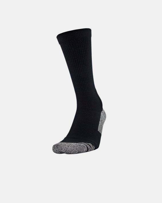 Adult UA ArmourGrip™ Crew Socks, Black, pdpMainDesktop image number 0
