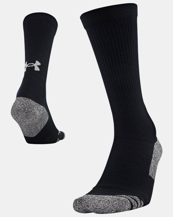 Adult UA ArmourGrip™ Crew Socks, Black, pdpMainDesktop image number 3