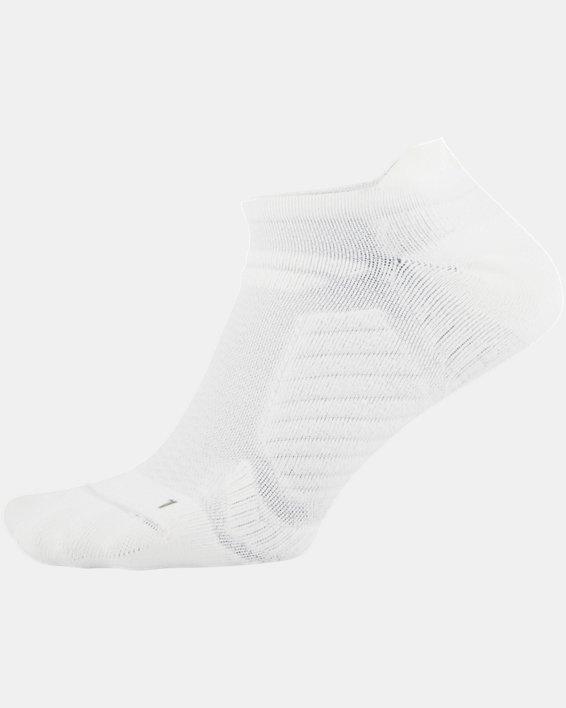 UA Cooling No Show Socks, White, pdpMainDesktop image number 2