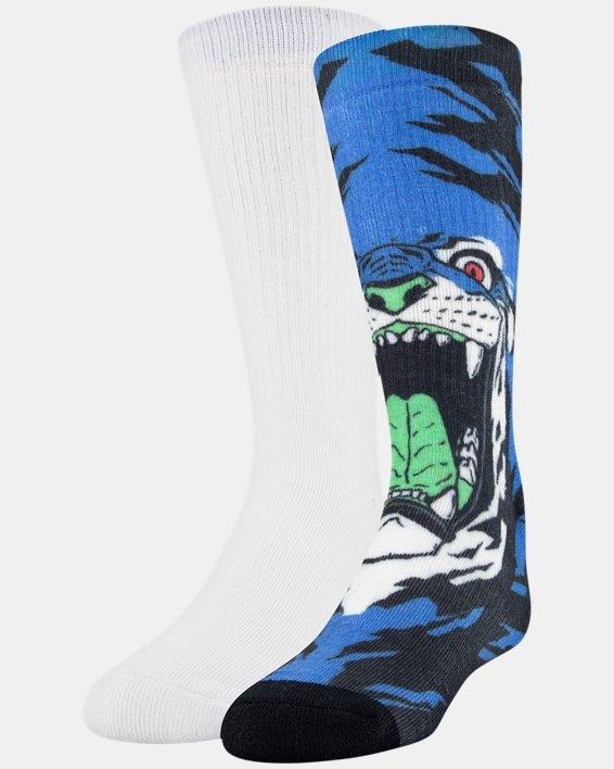 Kids' UA Mix – 2-Pack Socks, Blue, pdpMainDesktop image number 6