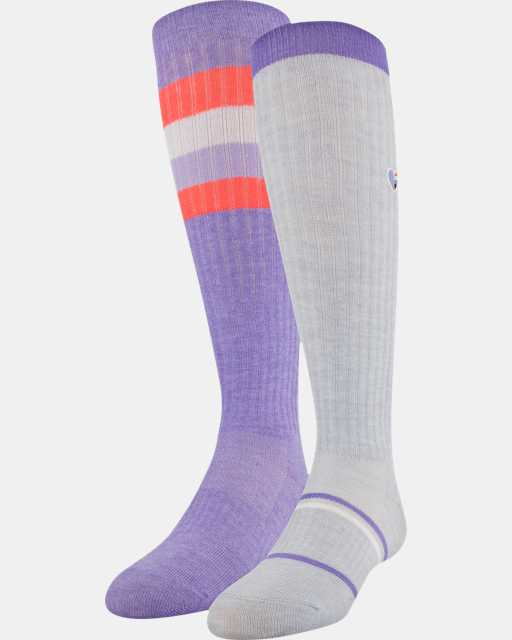 Girls' UA Over-The-Calf – 2-Pack Socks