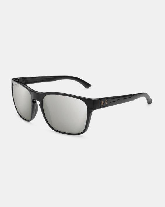 UA Glimpse Polarized Mirror Sunglasses, Black, pdpMainDesktop image number 0