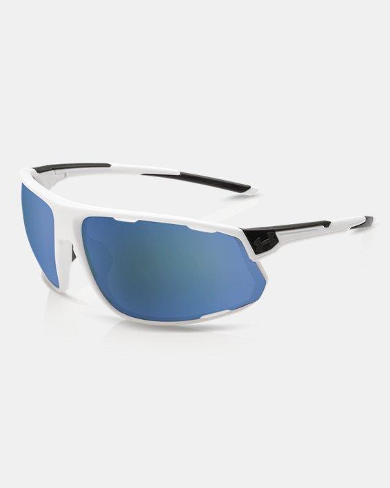 Men's UA TUNED™ Baseball Strive Sunglasses, White, pdpMainDesktop image number 0