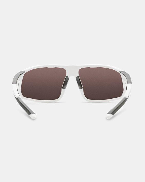Men's UA TUNED™ Baseball Strive Sunglasses, White, pdpMainDesktop image number 1