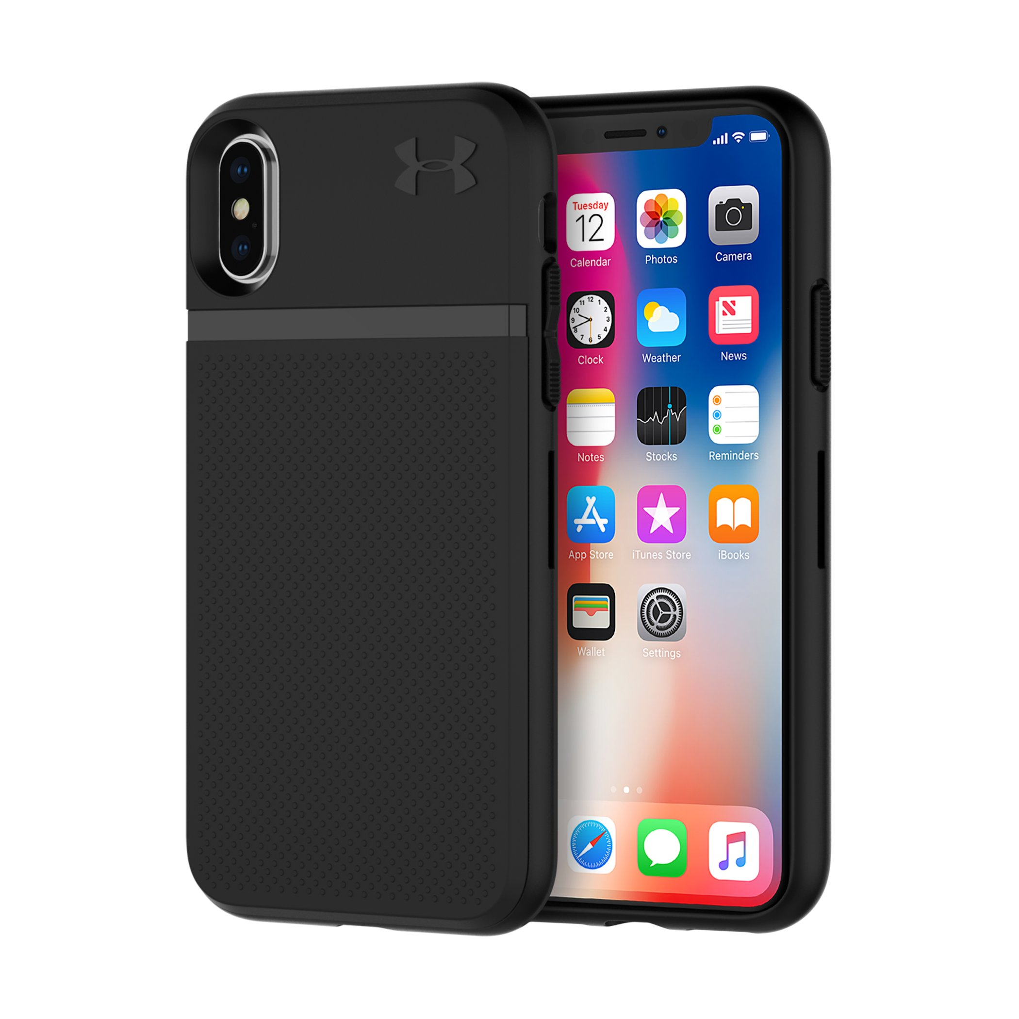 UA Protect Stash Case for iPhone X, Black , zoomed