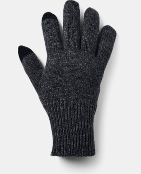 New Arrival Men's UA Knit Wool Gloves  1  Color Available $40