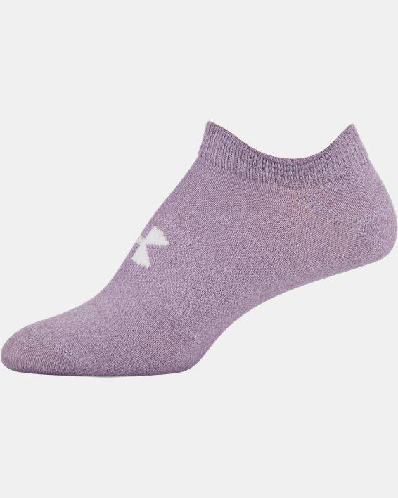 Women's UA Essentials No Show – 6-Pack, Purple, pdpMainDesktop image number 12