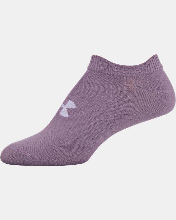 Women's UA Essentials No Show – 6-Pack, Purple, pdpMainDesktop image number 15