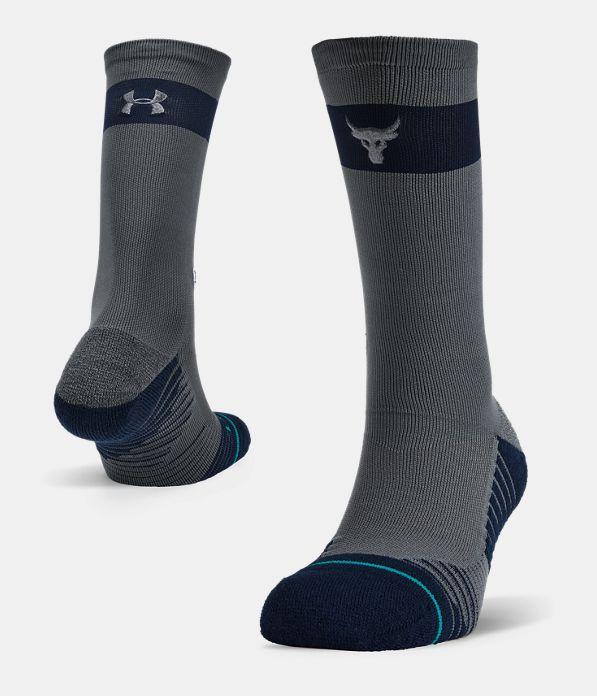 b970d16404e UA x Stance Project Rock Crew Socks