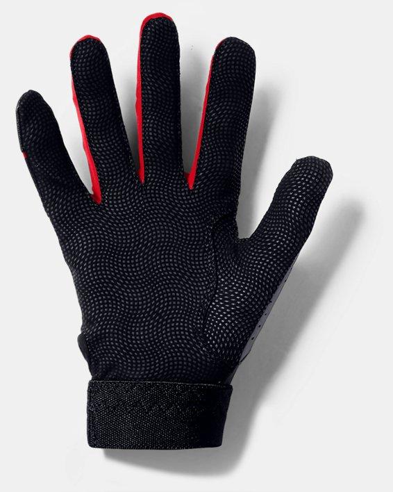 Youth UA Clean Up Batting Gloves, Black, pdpMainDesktop image number 1