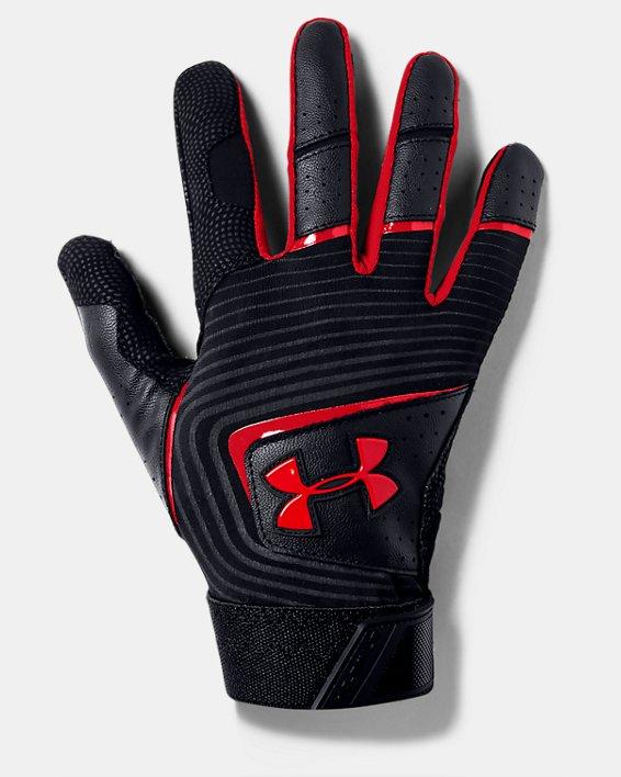 Youth UA Clean Up Batting Gloves, Black, pdpMainDesktop image number 0