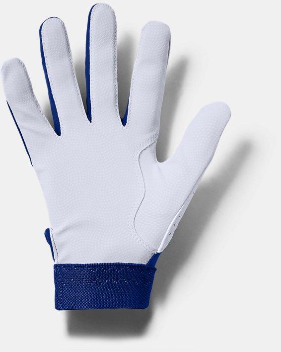 Youth UA Clean Up Batting Gloves, Blue, pdpMainDesktop image number 1