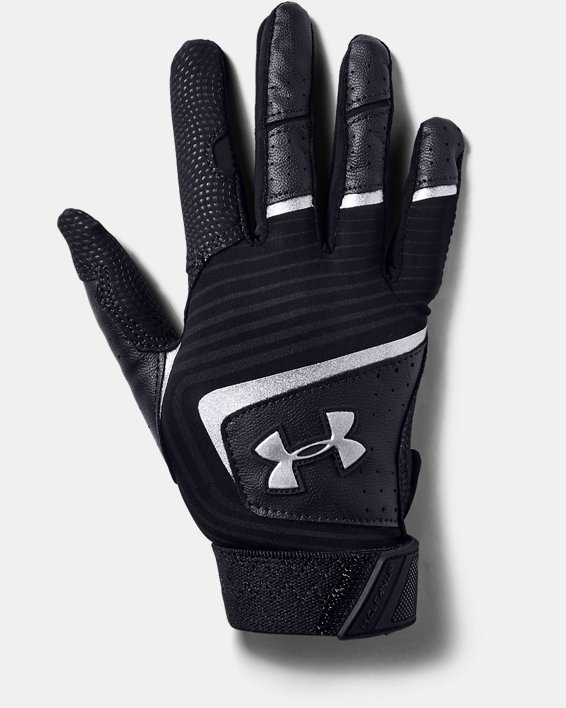 Youth UA Clean Up T-Ball Batting Gloves, Black, pdpMainDesktop image number 0