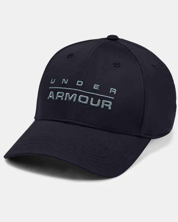 Men's UA Wordmark Stretch Fit Cap, Black, pdpMainDesktop image number 0