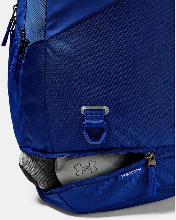 UA Hustle 4.0 Backpack, Blue, pdpMainDesktop image number 5