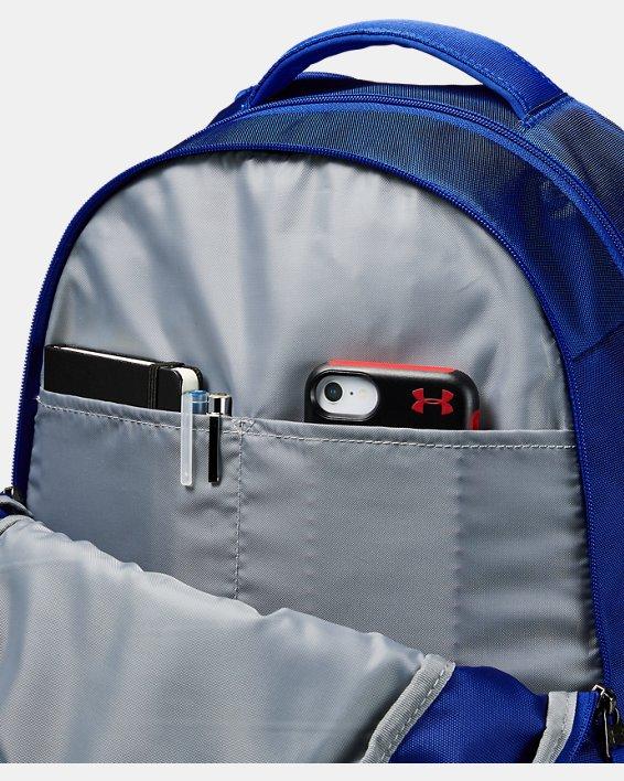 UA Hustle 4.0 Backpack, Blue, pdpMainDesktop image number 3