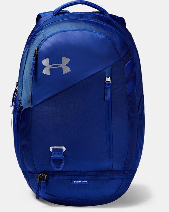 UA Hustle 4.0 Backpack, Blue, pdpMainDesktop image number 1