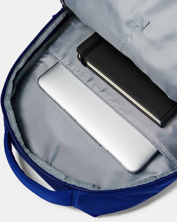 UA Hustle 4.0 Backpack, Blue, pdpMainDesktop image number 4