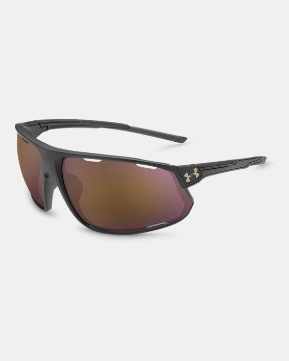 Men's UA TUNED™ Road Strive Sunglasses, Black, pdpMainDesktop image number 0