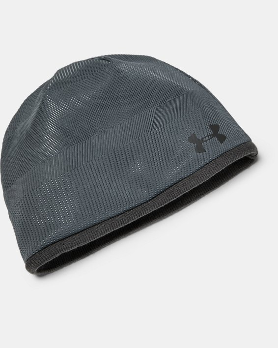 Men's UA Storm Golf Beanie, Gray, pdpMainDesktop image number 0
