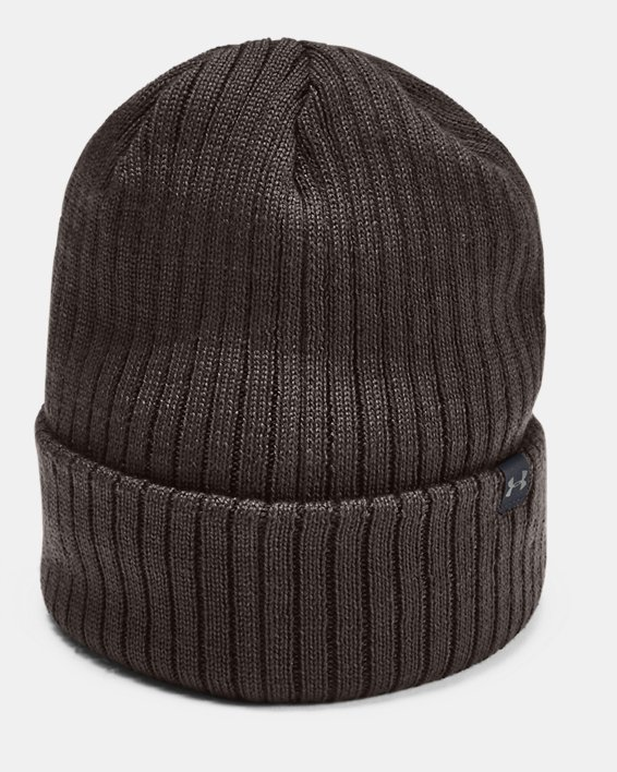 Men's UA PrimaLoft® Ridge Reaper Hunt Beanie, Brown, pdpMainDesktop image number 1