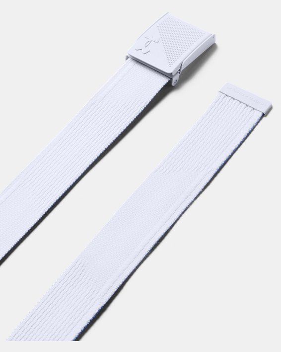 Men's UA Webbing Novelty Belt, White, pdpMainDesktop image number 0