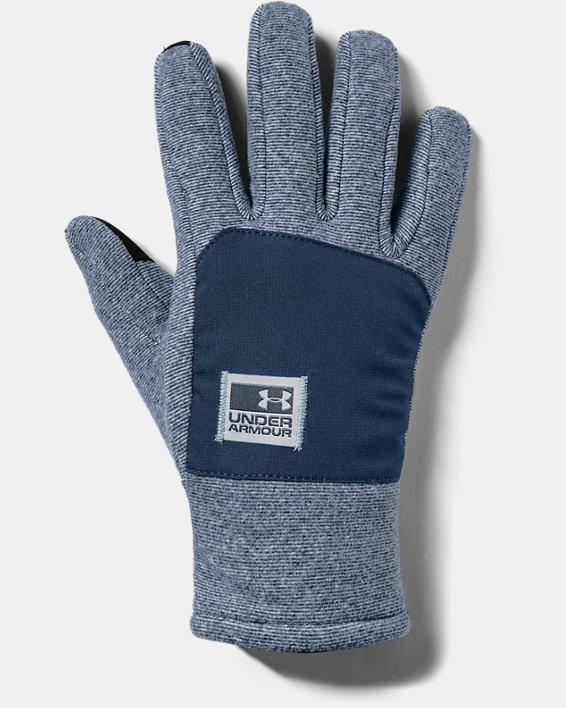 Men's ColdGear® Infrared Fleece Gloves, Navy, pdpMainDesktop image number 0