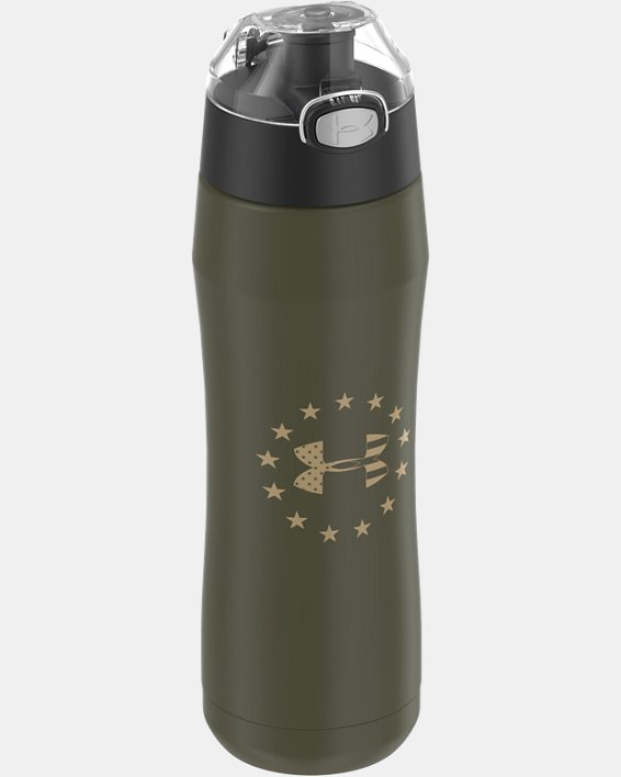 UA Freedom Beyond 18 oz. Water Bottle, Green, pdpMainDesktop image number 2