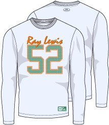 Men's Ray Lewis 52 Graphic T-Shirt, White,