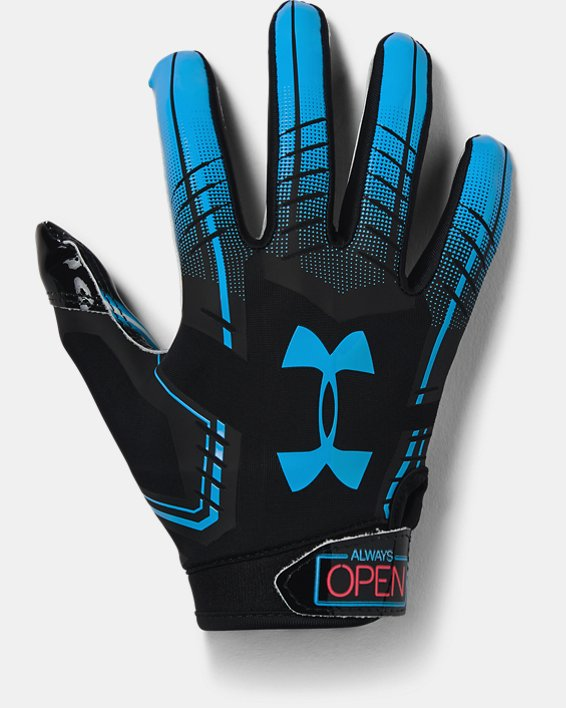 Youth UA F6 Novelty Football Gloves, Black, pdpMainDesktop image number 0