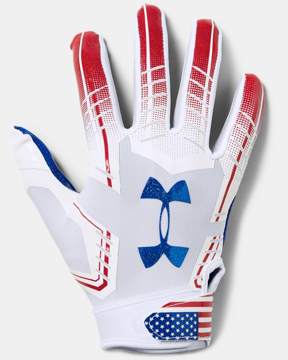 Youth UA F6 Novelty Football Gloves, White, pdpMainDesktop image number 0