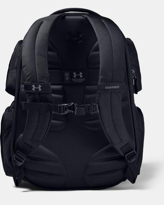 UA Travel Backpack, Black, pdpMainDesktop image number 2