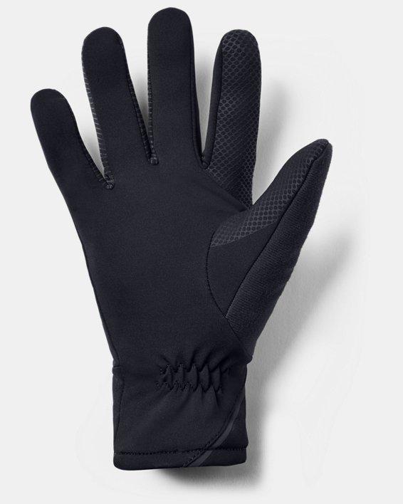 Men's UA Storm Run Gloves, Black, pdpMainDesktop image number 1