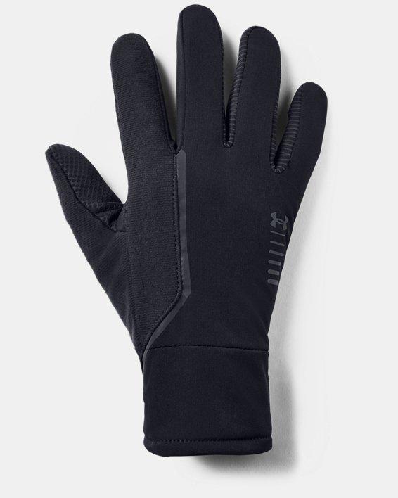 Men's UA Storm Run Gloves, Black, pdpMainDesktop image number 0
