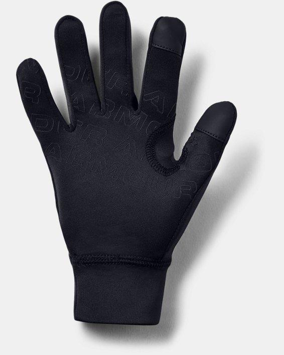 Gants UA Liner pour garçon, Black, pdpMainDesktop image number 1