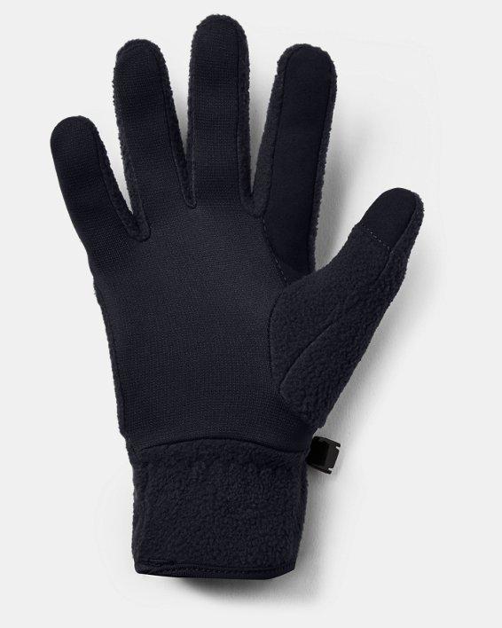 Boys' UA Unstoppable Fleece Gloves, Black, pdpMainDesktop image number 1