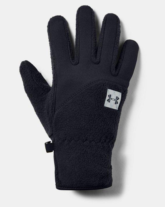 Boys' UA Unstoppable Fleece Gloves, Black, pdpMainDesktop image number 0