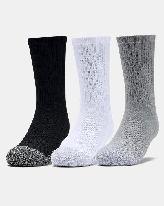 3paires de chaussettes montantes UA HeatGear® Crew pour enfant, Gray, pdpMainDesktop image number 0